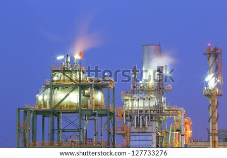 Industrial plant at twilight - stock photo