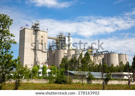 Industrial plants. - stock photo