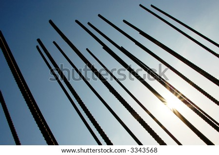 industrial poles abstract