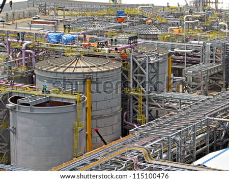 Industrial refinery plant - stock photo