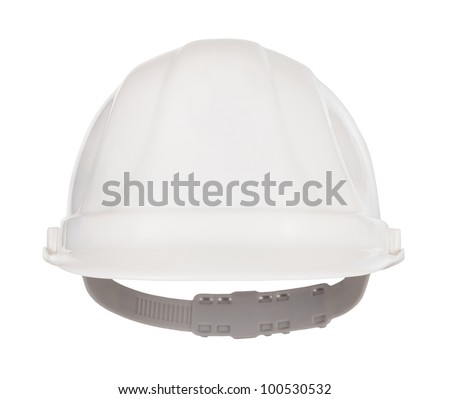 Industrial safety helmet front view - stock photo