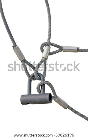 Industrial Safety Lock Interlocked Wire Loop Stock Photo (Royalty ...