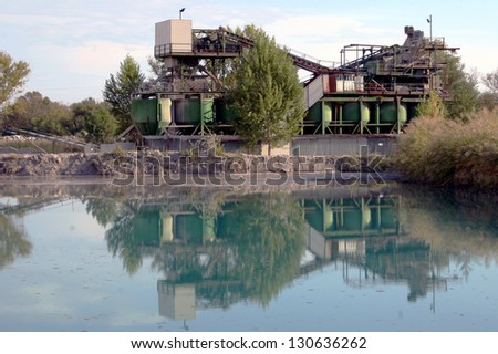 Industrial sand mill plant
