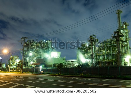 Industrial scene - stock photo