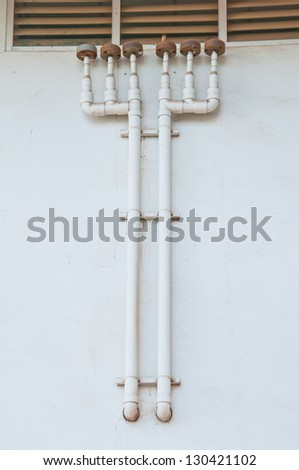 Industrial seamless pattern with rusty pipes and meter - stock photo