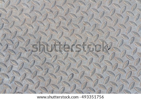 Metal silver list with rhombus shapes seamless metal texture table