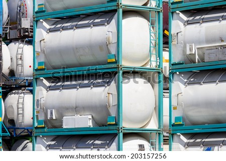 industrial shipping liquid container - stock photo