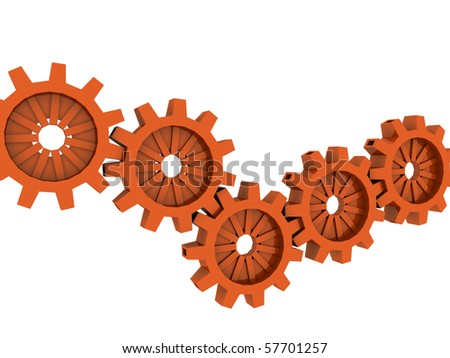 industrial technology concept. isolated on white - stock photo