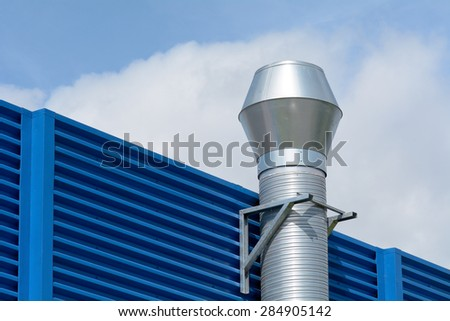Industrial Unit with aluminum chimney