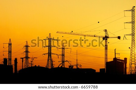 industrial view - stock photo