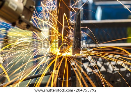 Industrial welding automotive in thailand - stock photo