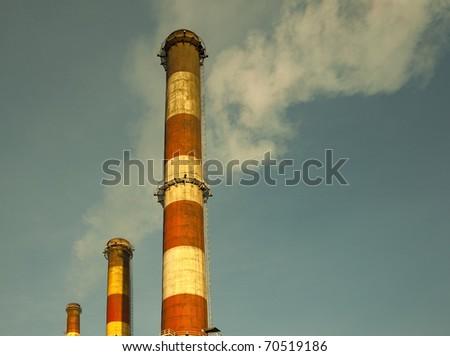 industry chimneys - stock photo