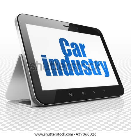 Industry concept: Tablet Computer with blue text Car Industry on display, 3D rendering - stock photo