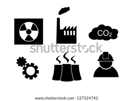 Industry icon set. - stock photo