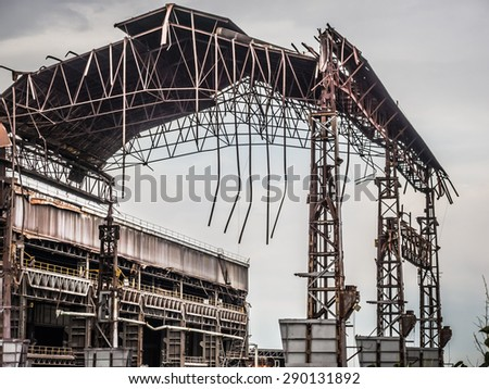 industry in ruins - stock photo