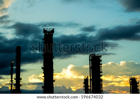 Industry Night - stock photo