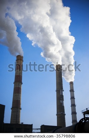 industry or factory ecology - stock photo