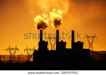 Industry Silhouette - stock photo