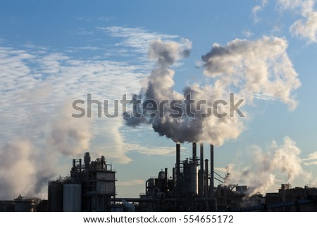 factory smoke pipe 5 stock photo 69983653 shutterstock. Black Bedroom Furniture Sets. Home Design Ideas
