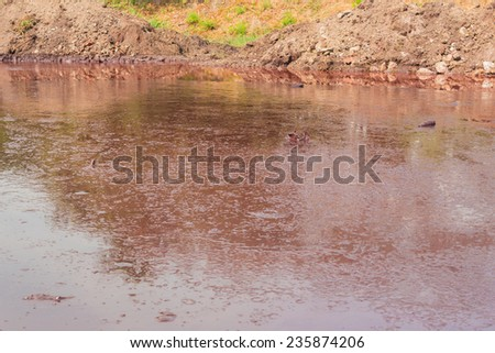 Industry steel, Waste water. - stock photo