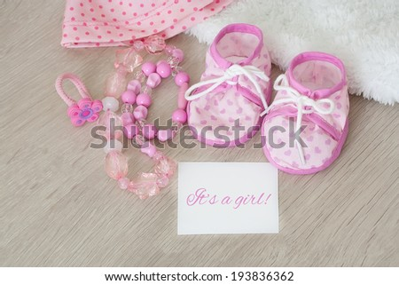 Infant girl shoes for baby shower