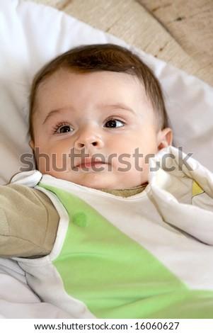 Infant smile. - stock photo
