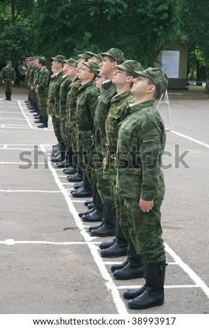 Infantry training - stock photo