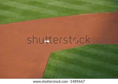 Infield before play - stock photo