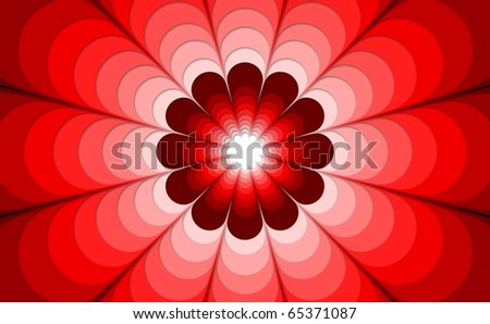 Infinite Flower - stock photo
