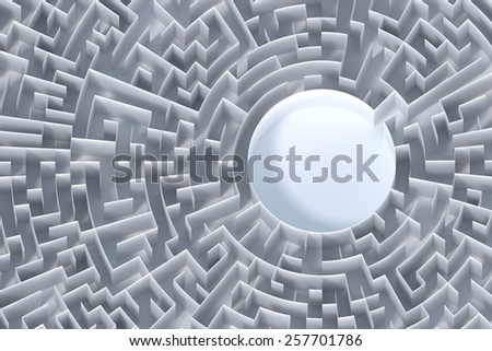 Infinite maze background, business concepts. - stock photo