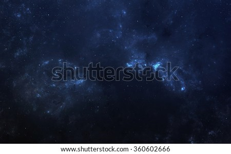 Infinite space background with nebula and stars. This image elements furnished by NASA. - stock photo