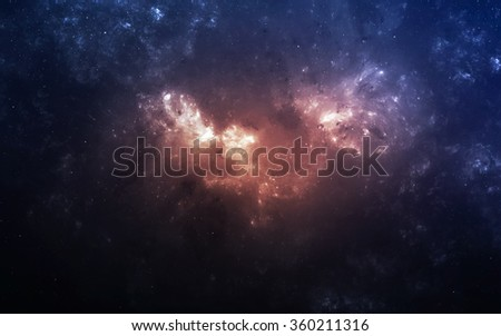 Infinite space background with nebulaes and stars. This image elements furnished by NASA. - stock photo