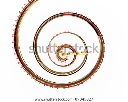 Infinite time isolated on white background. 3D abstract image - stock photo
