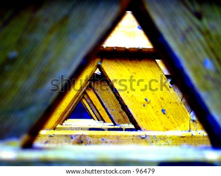 Infinite Triangles - stock photo