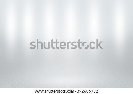 Infinite White Studio Background - stock photo