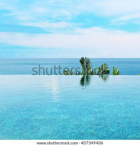 infiniti pool - stock photo
