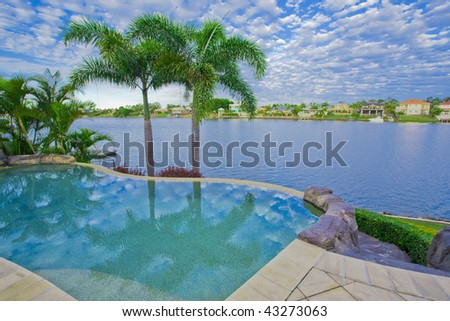 Infinity Pool with Views over canal