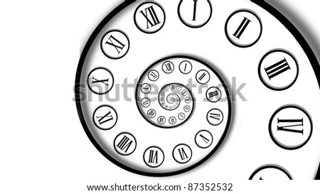 Infinity time spiral. Digital generated - stock photo