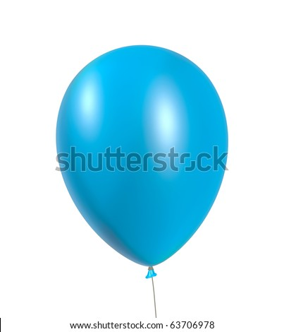 Inflatable balloon - isolated on the white background - stock photo
