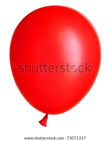 Inflatable balloon on the white background