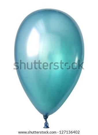 Inflatable balloon, photo on the white background - stock photo