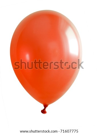 Inflatable balloon, photo on the white background - stock photo
