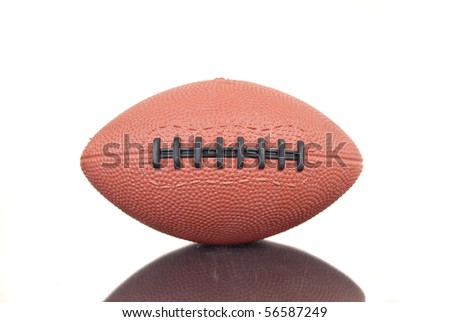 Inflatable Football with Reflection - stock photo