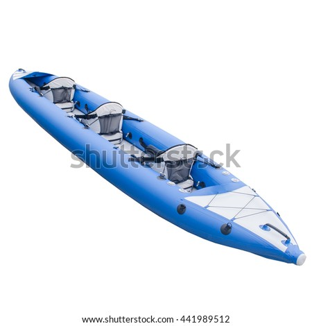 Inflatable kayak of ZelGear ukrainian manufacture from the back