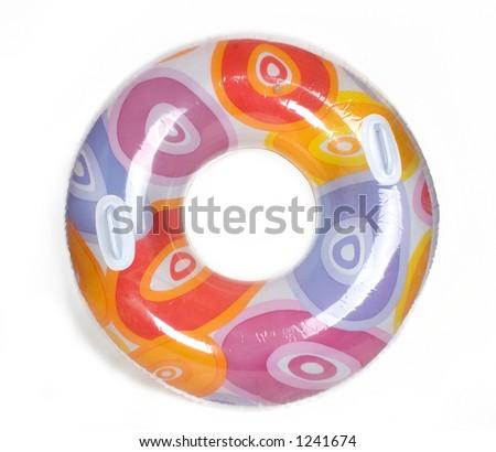 Inflatable Round Pool Tube - stock photo