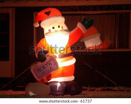 Inflatable Santa - stock photo