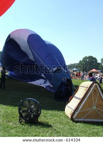 inflating a balloon