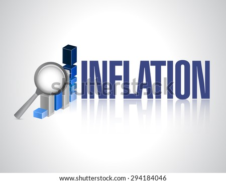 inflation business graph sign concept illustration design graphic - stock photo