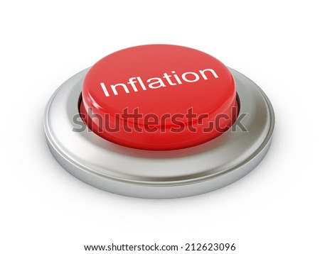 Inflation Button - stock photo