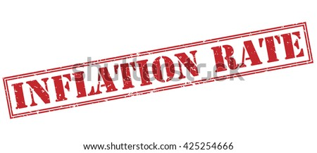 inflation rate stamp - stock photo